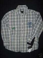 NEW YOUTH BOYS HURLEY BUTTON UP LONG SLEEVE SHIRT LARGE 14/16