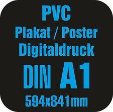 PVC Poster / Plakat A1 regenfest für Werbeaufsteller