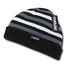 Black White Gray Knit Warm Winter Skull Ski Sailor Beanie Beanies Cap Hat Hats