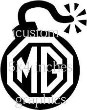 MG Logo Auto Vinile Adesivo Bomba RALLY STOCK RACING grafica decalcomanie lato posteriore JDM