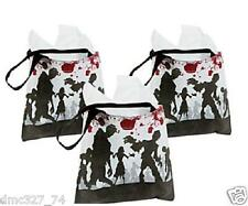 12 HALLOWEEN Party Favor MINI Goody Treat ZOMBIE Walking Dead TOTES Tote Bags
