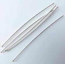 100 Pernos de Cabeza Plata Plateado delgada suave hallazgos de calidad superior de 0.6 mm de grosor 50 mm
