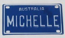 MICHELLE NOVELTY NAME MINI TIN AUSTRALIAN LICENSE NUMBER PLATE