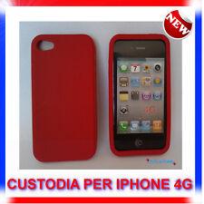 Custodia + Pellicola COVER SILICONE ROSSA PER IPHONE 4G