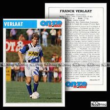 VERLAAT FRANCK (HAARLEM, AJAX AMSTERDAM, LAUSANNE) Fiche Football / Voetbal 1991