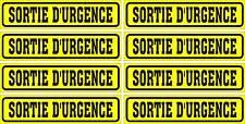 LOT DE 8 AUTOCOLLANTS LUSTRÉ, SORTIE D'URGENCE, POUR INTÉRIEUR OU EXTÉRIEUR