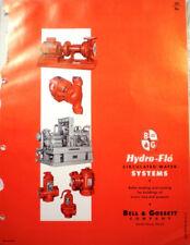 BELL & GOSSETT Catalog Hydro-Flo Pumps Boilers ASBESTOS Air Cell Insulation 1964