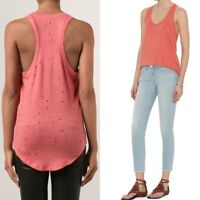 * NWT IRO Doris Distressed Tank Top Coral Pink M