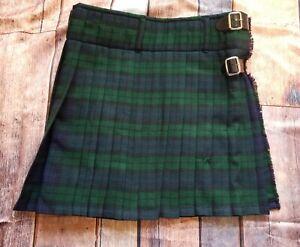 Scottish Design Kilt Tartans Adult Size 36 Plaid Green Traditional
