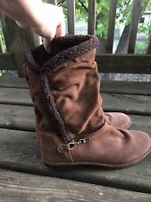 Lands End Womens Brown Boots Size 10