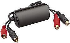 Oro plateado RCA Fono Car Audio filtro de ruido de aislador de bucle de tierra evitar zumbidos