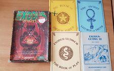 Éxodo Ultima 3 III COMMODORE AMIGA Raro Juego en Caja Libros Manuales informáticos