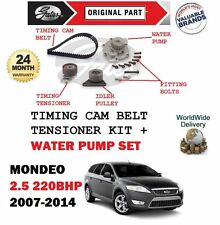 FOR FORD MONDEO 2.5 220BHP 2007-2014 WATER PUMP + TIMING CAM BELT TENSIONER KIT