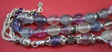 Prayer Worry Beads Komboloi Tesbih Gebetskette Oval Fluorite & Sterling Silver