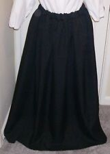 ADULTS LADIES VICTORIAN/ STEAMPUNK /SUFFRAGETTE  COSTUME SKIRT BLACK SIZE 12/16