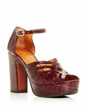 CHIE MIHARA Unida33 Block Heel Strappy Sandals Kenya Grape EU 38 NEW