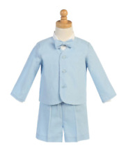 Baby Boys Blue Eton Suit with Shorts Ideal Summer Wedding/Christening 18/24 M