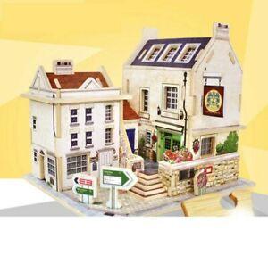Rolife 3D Miniature DIY cardboard house puzzle, British Pub F133, Brand New