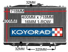 Radiator Honda Accord Euro CL 03-08 2.4L 4cly K24A Petrol Auto Manual New Koyo