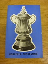 1967/1968 FA Cup: Souvenir Programme - 'Fill Your Own Teams In', Blue Cover With