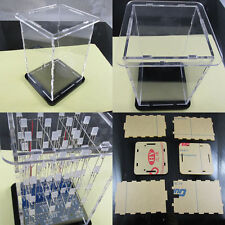 Transparent Acrylic Cube Shell For 4x4x4 3D LightSquared 2*5*7MM LED Cube