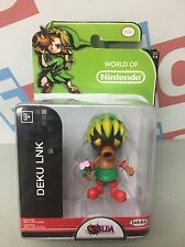 "Jakks Pacific Super Mario 2.5"" World of Nintendo 1-6 Deku Link Figure Zelda"