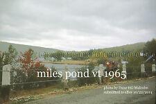 "Maine Central RR 576 Miles Pond , Vt. 4 Oct 1965 2:45PM      4x6"" photo"