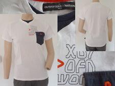 Outfitters Nation Shirt Boy Sommer Kurzarm V-Ausschnitt Tasche Weiss 152 Top