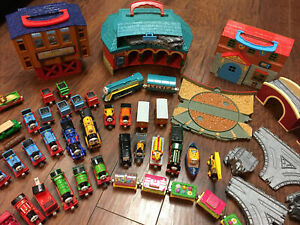 100+ Piece Lot Thomas the Train And Friends Track Engines Playset Metal Wooden