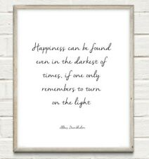 Harry Potter Happiness Typography Print Poster Unframed Home Quote Gift