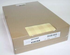 Ektorp Ikea Chaise Sofa Slip Cover Skaftarp Yellow Checkered Plaid 803.398.32
