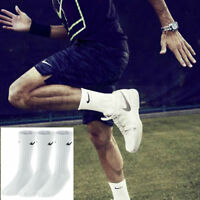 Nike Crew Socks 3 Pairs Mens Womens Cotton Sports Socks Size UK 2-14