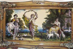 A LOVELY ORIENTAL PICTORIAL CARPET (120 x 70 cm)