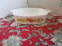 Vintage Corning Ware 1 Quart Casserole Dish A-1-B L'Echalote Spice of Life W/Lid