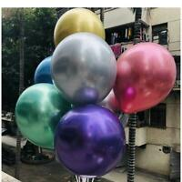 "50pcs 12""  Chrome Balloons Shiny Metallic Latex Birthday Wedding Party Decor"