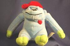 "Blue Monkey Ape Red Cap Heart Love Lovey Stuffed Animal Toy 6"" Plush"