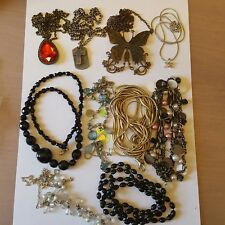 assorted gold and silver tone necklaces. A lovely job lot of 10