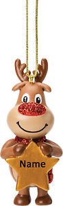 Reindeer Boy Personalised Decoration by Suki Gifts
