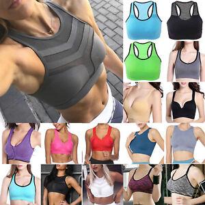 Women Wireless Padded Sports Bra Vest Gym Fitness Yoga Running Soft Bra Crop Top