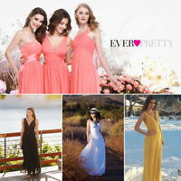 Ever-Pretty Chiffon Wedding Bridesmaid Formal Evening Party Dress Ball Gown 9016