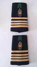 Paire des Fourreaux d'épaules Grades Galons pour COMMANDANT  Légion Étrangère