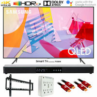 "Samsung QN65Q60TA 65"" Q60T QLED 4K UHD Smart TV (2020) with Deco Gear Soundbar B"