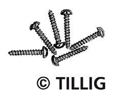 TILLIG 08970- TT mini-holzschrauben, Negro Bruñido, 1,4mm x 8 mm, 100 ST NUEVO