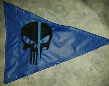 Custom Triangle Blue Lives Matter Punisher Safety Flag 4 ATV UTV Jeep  bike