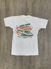 Vtg 1991 John Force Shirt Sz S Racing Funny Car Champion Faded 90s White NHRA