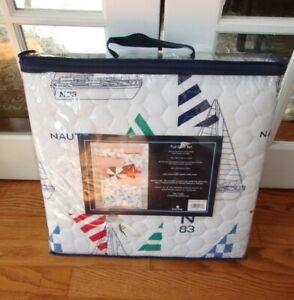 NIP Nautica Kids Sailboats & Checkers Full Quilt Set 3pc