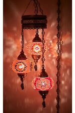 Turkish Moroccan Colored Stained Glass Chandelier Mosaic Ceiling Lamp Home Decor