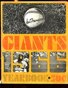 1966 MLB Baseball San Francisco Giants Yearbook VG