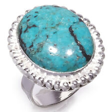 Turquoise Gemstone 925 Sterling Silver Handmade Jewelry Ring Size 7 2170
