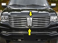 FITS LINCOLN NAVIGATOR 15-17 STAINLESS STEEL CHROME FRONT CENTER GRILLE TRIM 1PC